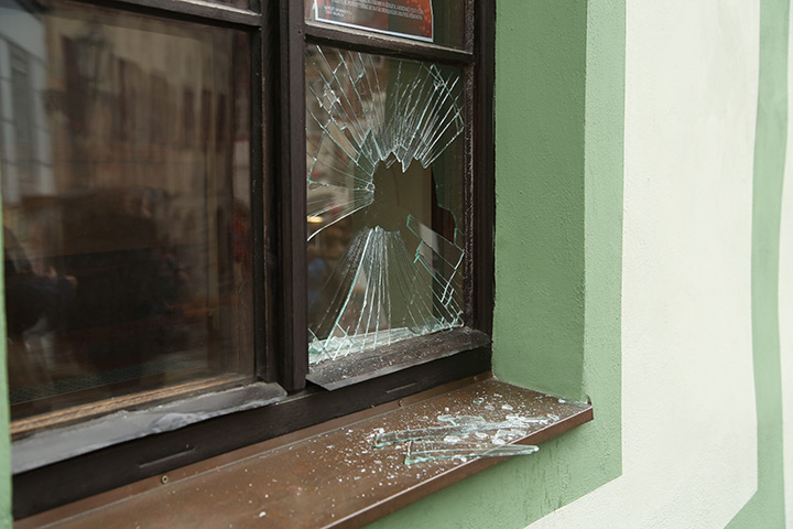 A2B Glass are able to board up broken windows while they are being repaired in West Wickham.